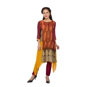 Present Women Orange Georgette Kurti ( Code-pc-3109-a)