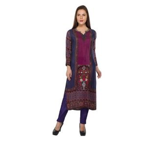 Present Women Purple Crepe Kurti ( Code-pc-3072-a)