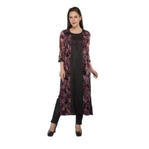 Present Women Black Cotton Kurti ( Code-pc-3191-b1)