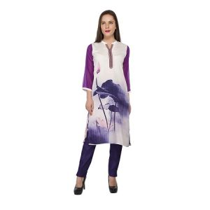 Present Women Purple Cotton Kurti ( Code-pc-3089a)