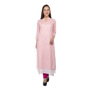 Present Women Peach Cotton Kurti ( Code-pc-3208)