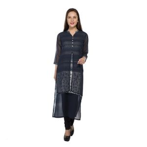 Present Women Navy Cotton Kurti ( Code-pc-3150-b)