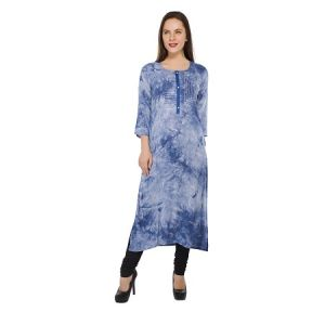 Present Women Blue Cotton Kurti ( Code-pc-3211-b)
