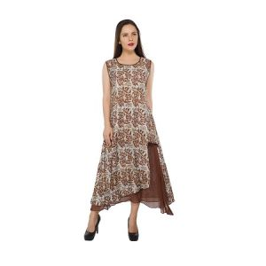 Present Women Brown Cotton Kurti ( Code-pc-3124)
