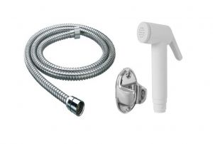 Shoppingekart Abs Ivory Health Faucet With 1 Meter S.s Tube And Wall Hook - (code -hf-2211)