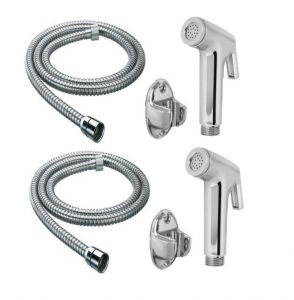 Shoppingekart Continental Health Faucet With 1 Meter S.s Tube And Wall Hook (pack Of 2) - (code -hf-2215)