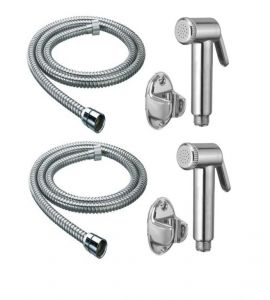 Taps & faucets - Shoppingekart Jaquar Health Faucet With 1 Meter S.S Tube And Wall Hook (Pack of 2) - (Code -HF-2218)