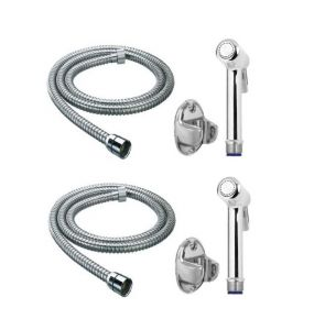 Shoppingekart Magna Brass Health Faucet With 1 Meter S.s Tube And Wall Hook (pack Of 2) - (code -hf-2222)