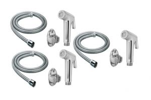 Shoppingekart Continental Health Faucet With 1 Meter S.s Tube And Wall Hook (pack Of 3) - (code -hf-2227)