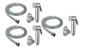 Taps & faucets - Shoppingekart Jaquar Health Faucet With 1 Meter S.S Tube And Wall Hook (Pack of 3) - (Code -HF-2230)