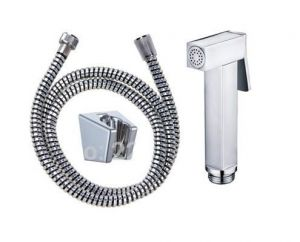 Shoppingekart Square Abs Health Faucet With 1 Meter Pvc Tube And Wall Hook - (code -hf-2333)