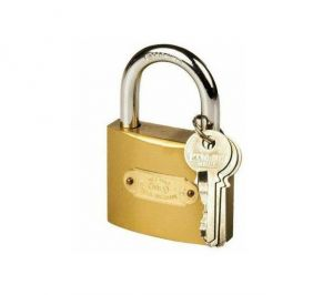 Shoppingekart Stainless Steel Square Circle Meibao 50 MM With 3 Keys Padlock - (code -s-1139)