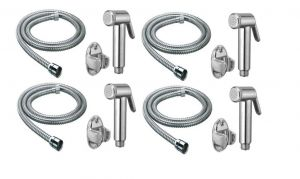 Taps & faucets - Shoppingekart Jaquar Health Faucet With 1 Meter S.S Tube And Wall Hook (Pack of 4) - (Code -HF-2242)