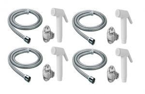 Shoppingekart Abs Ivory Health Faucet With 1 Meter S.s Tube And Wall Hook (pack Of 4) - (code -hf-2247)