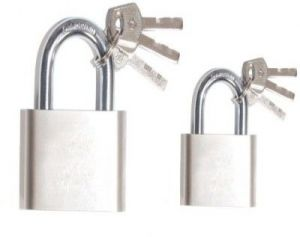 Shoppingekart Stainless Steel 50mm And 60mm Pack Of 2 Lock - (code -l-8499)