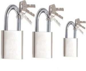 Shoppingekart Stainless Steel 50mm,60mmand70mm Pack Of3 Lock - (code -l-8409)