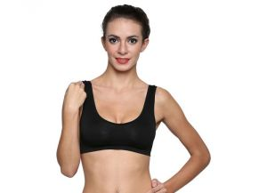 Wetex Premium Seamless Black Air Bra Free Size (product Code - Air Bra-black)