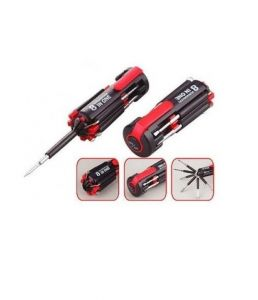Daimo 8 In 1 Multifunction Portable Screwdriver With Integrated LED Torch