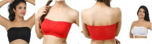 Pack Of 3 Bandeau Tube Top Bra In 3 Different Colours