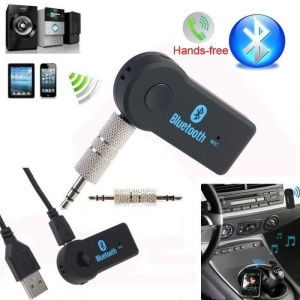 3.5mm Car Aux Bluetooth Wireless Stereo Audio Music Receiver Adapter For Mobiles