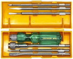 iam magpie,o general,shree,Taparia Hardware, Tools - Taparia 840 Screw Driver Set With Neon Bulb