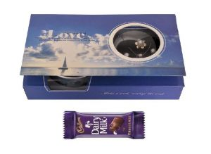 Indigo Creatives Love Gift Pearl Jewelry Set With Cadbury Chocolate