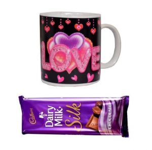 Indigo Creatives Love Gift Heat Sensitive Color Changing With Love Message Coffee Mug And Cadbury Chocolate