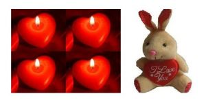 Indigo Creatives Gift Red Love Pasion Heart Candle Set With Love Cuddly Teddy Bear