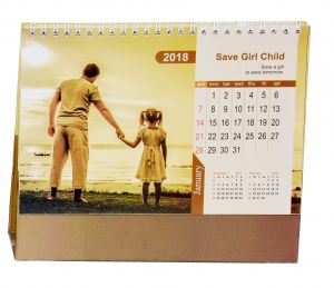 Indigo Creatives Save The Girl Child Table Desk Top 2018 Calendar