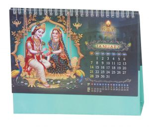 Indigo Creatives Radha Krishna 2018 Desktop Office Calendar