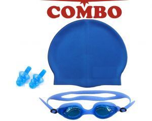 Perfect Deal Swimming Combo Of Swimming Cap Swimming Goggles Ear Plug