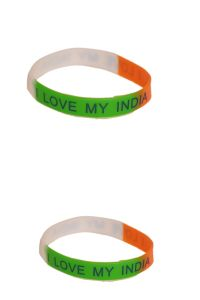 Indigo Creatives I Love My India Pair Hand Band Gift Set