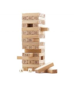 Indigo Creatives Jenga Wood Blocks Family Pack Fun Game - Special Version (1 Pieces)