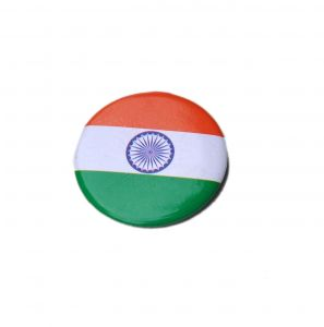 Sports Accessories - Indigo Creatives Indian Flag Motif Pin On Button Badge