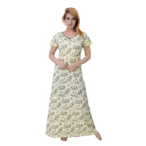 Vipul,Surat Tex,Avsar,Kaamastra,Mahi,Sleeping Story,Oviya Women's Clothing - Sleeping Story Women's Jursey Cotton Floral Printed Nighty (Code - 10278)