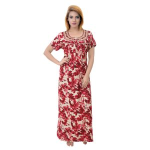 Vipul,Arpera,Sleeping Story,Kalazone Women's Clothing - Sleeping Story Women's Poly Cotton Floral Printed Nighty (Code - 10357)