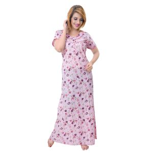 Vipul,Arpera,Sleeping Story,Clovia,Cloe,Platinum,Oviya Women's Clothing - Sleeping Story Women's Poly Cotton Floral Printed Nighty (Code - 10363)