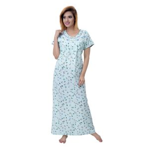 Jagdamba,Kalazone,Jpearls,Mahi,Surat Diamonds,Asmi,Sleeping Story Women's Clothing - Sleeping Story Women's Cotton Floral Printed Nighty (Code - 10364)