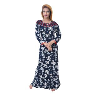Asmi,Sukkhi,Lime,Sleeping Story,Jharjhar,Arpera Women's Clothing - Sleeping Story Women's Jursey Cotton Floral Printed Nighty (Code - 10370)