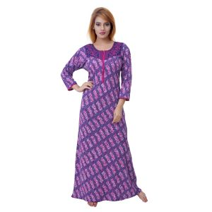 Kiara,Sukkhi,Tng,Arpera,See More,Sleeping Story,Sangini,Mahi Women's Clothing - Sleeping Story Women's Jursey Cotton Geometric Printed Nighty (Code - 10372)