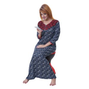 vipul,arpera,clovia,oviya,kiara,bikaw,sleeping story Sleep Wear (Women's) - Sleeping Story Women's Jursey Cotton Checkered Nighty (Code - 10375)
