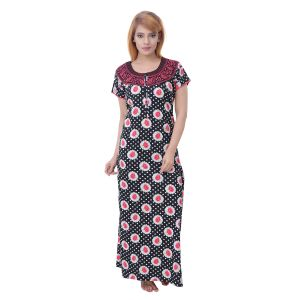 Rcpc,Kalazone,Jpearls,Parineeta,Bagforever,Surat Tex,Unimod,Estoss,Gili,Sleeping Story Women's Clothing - Sleeping Story Women's Jursey Cotton Floral Printed Nighty (Code - 10376)