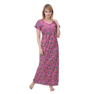 Rcpc,Sukkhi,Sleeping Story Women's Clothing - Sleeping Story Women's Poly Cotton Floral Printed Nighty (Code - 10391)