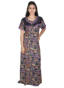 Avsar,Ag,Lime,Jagdamba,Sleeping Story,Surat Diamonds,Tng,Diya Women's Clothing - Sleeping Story Purple Alpine Womens Nighty(Code-20270-B)