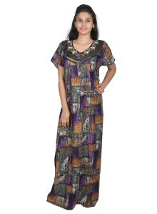 Vipul,Surat Tex,Avsar,Kaamastra,Mahi,Sleeping Story,Clovia,Gili Women's Clothing - Sleeping Story Alpine Purple Printed Nighty for Women(Code-20297-A)