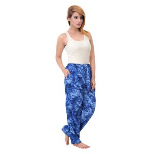 Sleeping Story Womens Poly Cotton Blue Printed Pyjamas (code - 80001b)