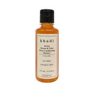 Khadi Herbal Henna & Tulsi Extra Conditioning Shampoo SLS-Paraben Free - 210ml