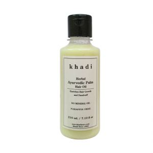 Globus,Khadi,Vi John Personal Care & Beauty - Khadi Herbal Ayurvedic Palm Hair Oil - 210ml