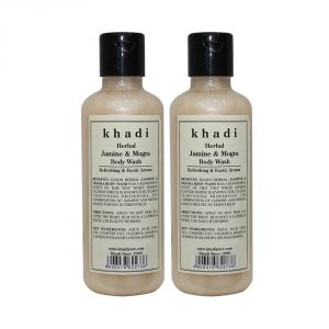 Khadi Herbal Jasmine & Mogra Body Wash - 210ml (set Of 2)