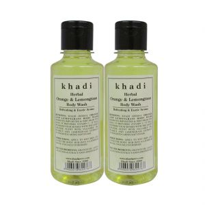 Khadi Herbal Orange & Lemongrass Body Wash - 210ml (set Of 2)
